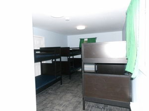 Each camper room has 4 bunk bed to fit 8 people